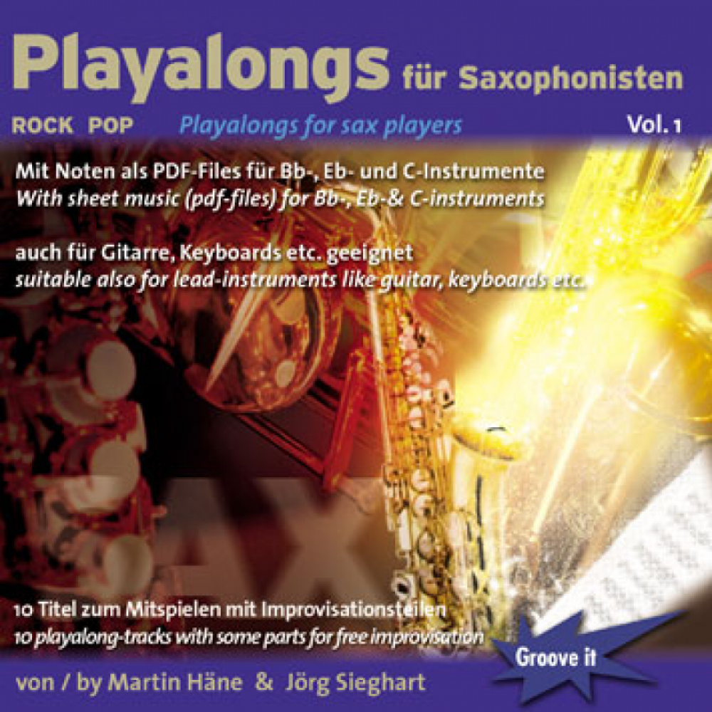 Playalongs für Saxophonisten Vol.1 (Rock/Pop)
