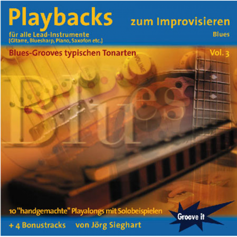 Playbacks zum Improvisieren Vol.3 - Blues